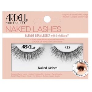 3/$21 Ardell Naked Lashes 423 black wispy natural